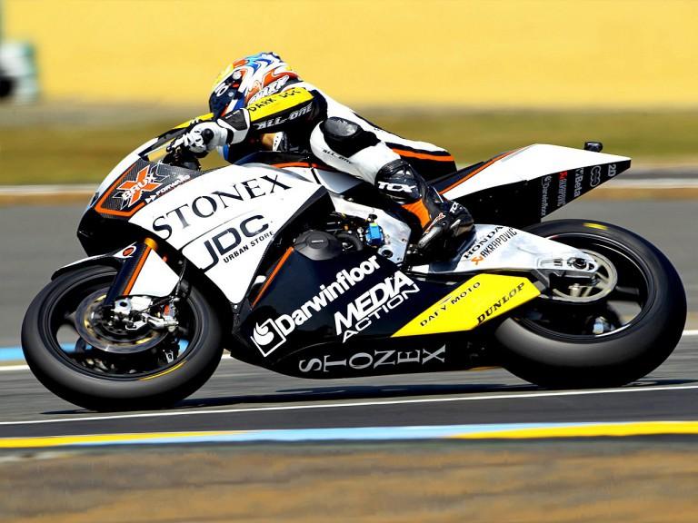 jules Cluzel in action in Le Mans