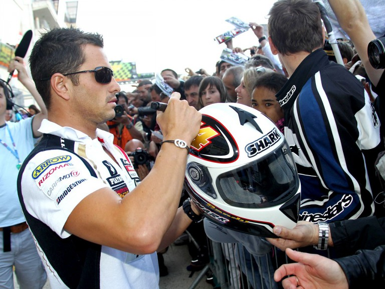 Randy de Puniet meets the fans in Le Mans