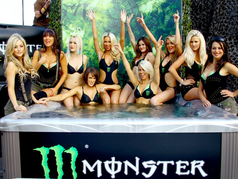 Monster Energy girls at the BBQ preevent