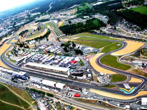 Aerial view from LeMans circuit