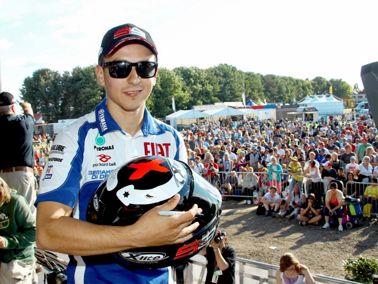 Jorge Lorenzo supporting Riders For Health for the Day of Champions in Silverstone