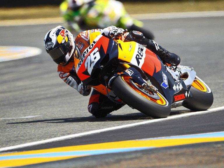 Dani Pedrosa on track in Le Mans