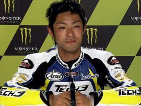 Le Mans 2010 Moto2 QP Interview Yuki Takahashi