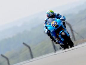 Loris Capirossi in action in Le Mans
