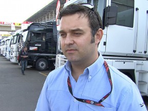 motogp.com commentator Gavin Emmett at the Paddock in Le Mans