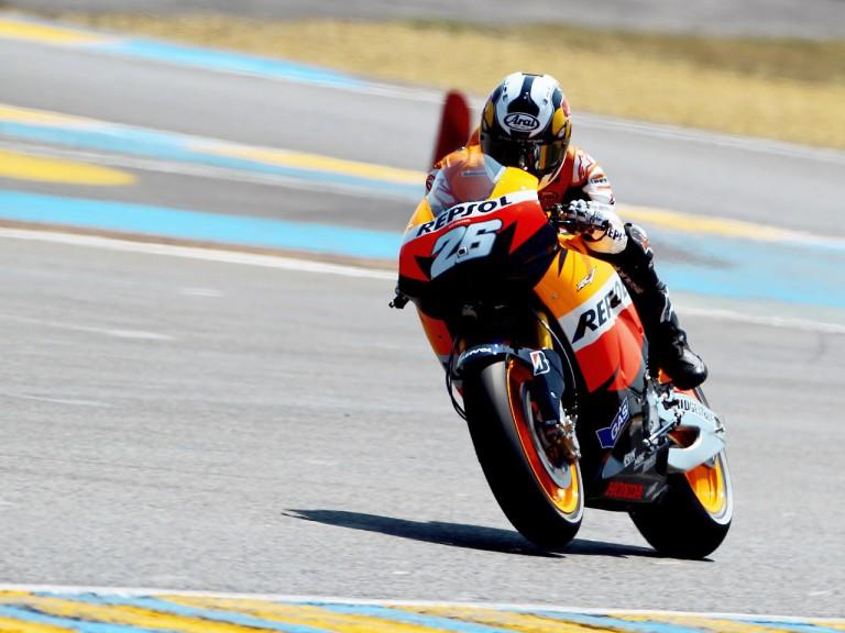 Dani Pedrosa in action in Le Mans