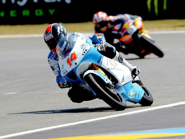 Johann Zarco in action in Le Mans