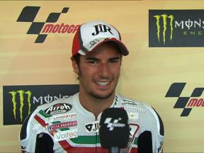 Corsi on first podium of 2010