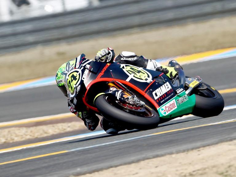 Toni Elias in action in Le Mans