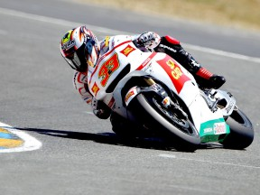 Marco Melandri in action in Le Mans