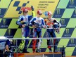 Rossi, Dovizioso and Lorenzo on the podium in Le Mans