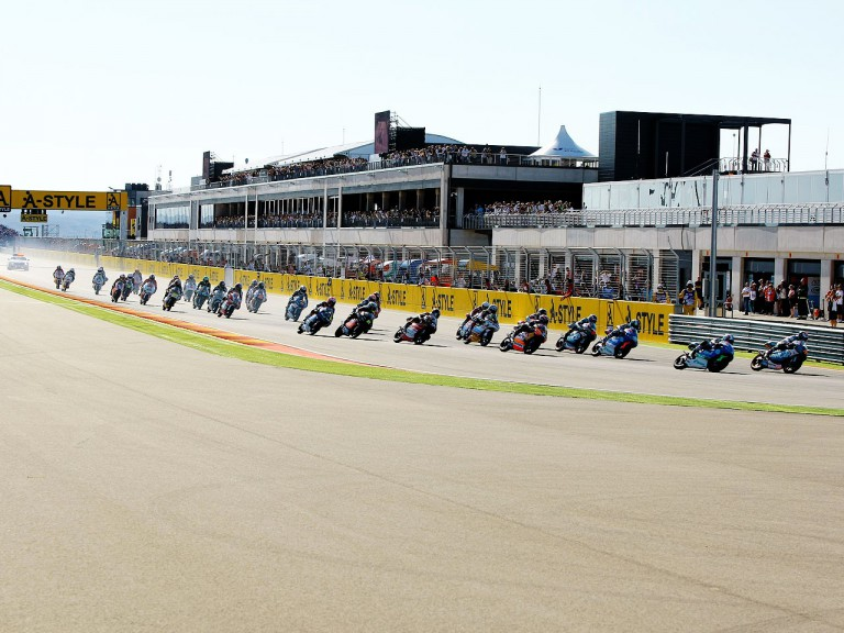 125cc Group in action at Motorland Aragón