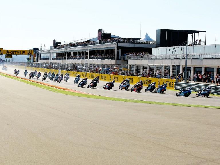 125cc Group in action at Motorland Aragón