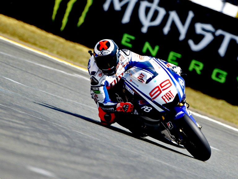 Jorge Lorenzo in action in Le Mans