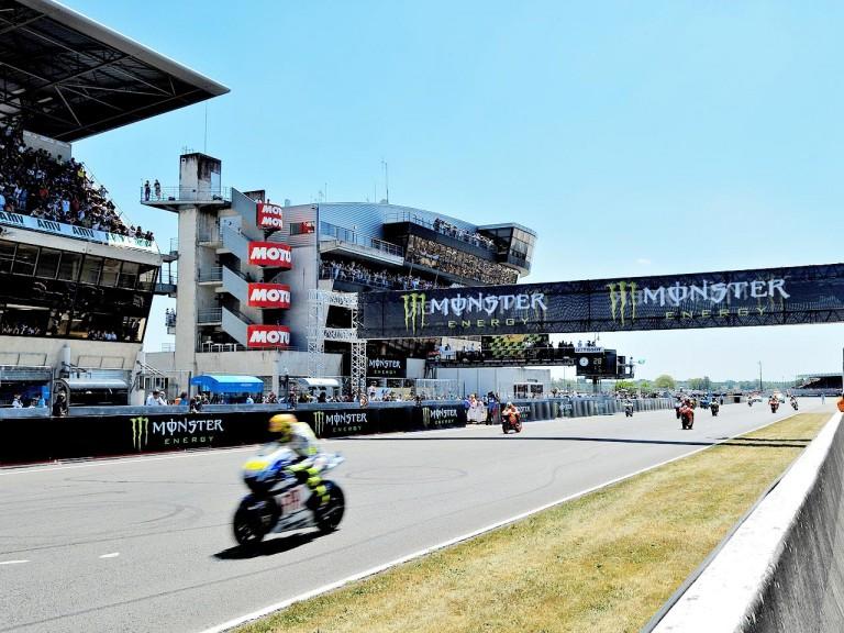 MotoGP action in Le Mans
