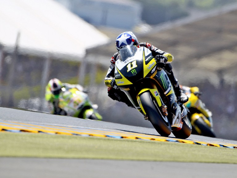 Ben Spies in action in Le Mans