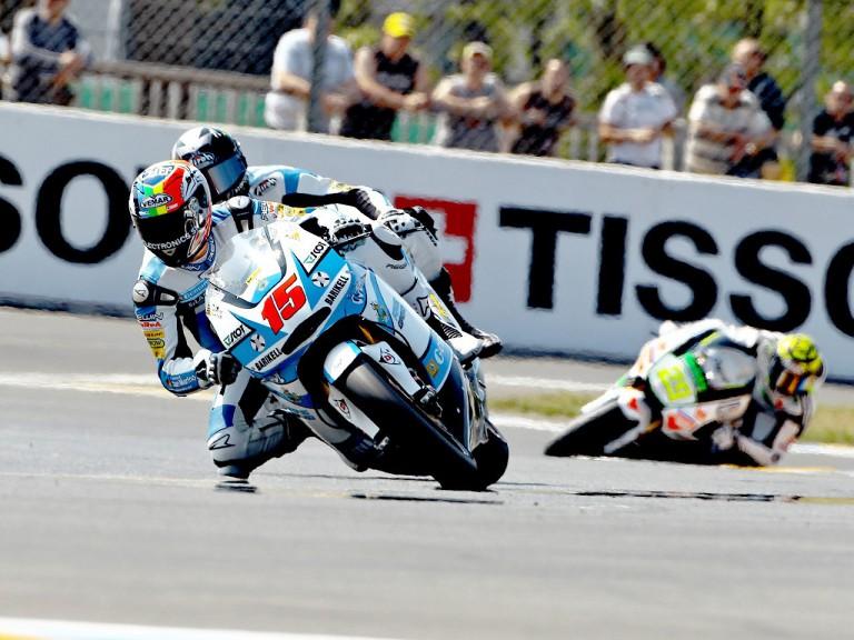 Alex de Angelis in action in Le Mans