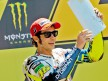 Valentino Rossi on the podium in Le Mans
