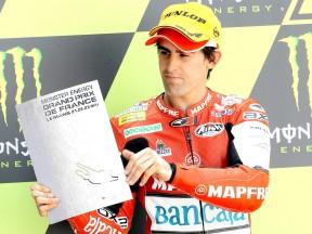 Julián Simón on the podium in Le Mans