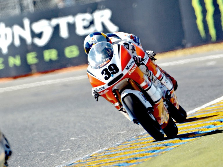 Luis Salom in action in le Mans