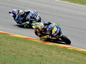 Rossi overtaking to Melandri at Mugello 2005
