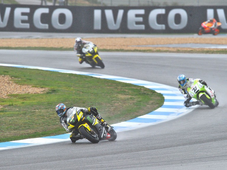 MotoGP group in action during FP3 at Estoril
