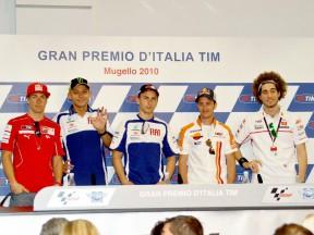 MotoGP riders at the Gran Premio D´Italia TIM press conference