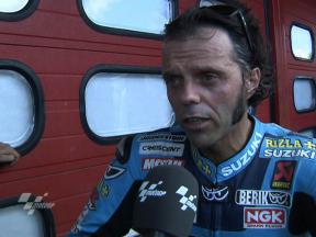 Capirossi happy with pace despite late fall