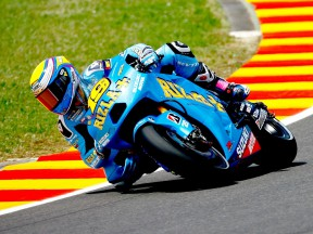 Alvaro Bautista in action in Mugello