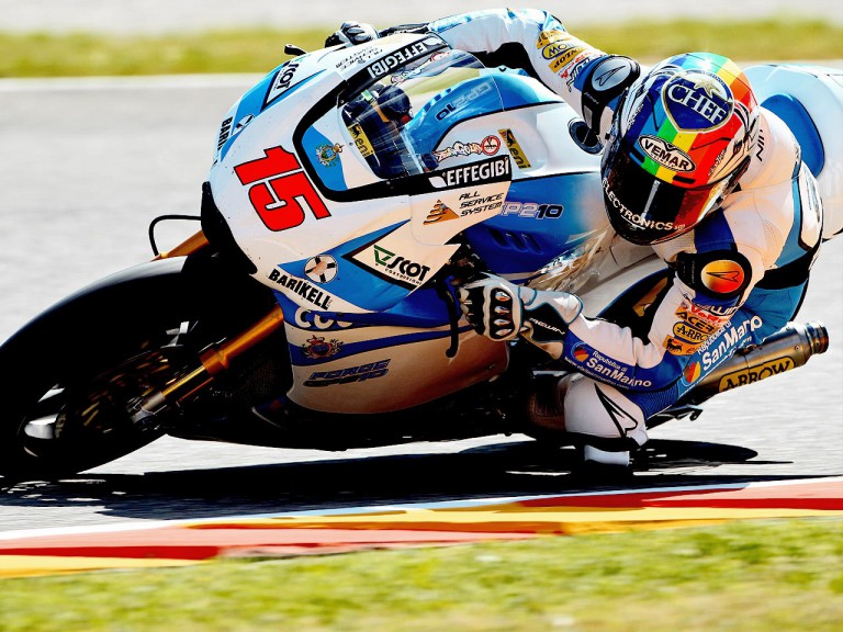 Alex de Angelis in action in Mugello