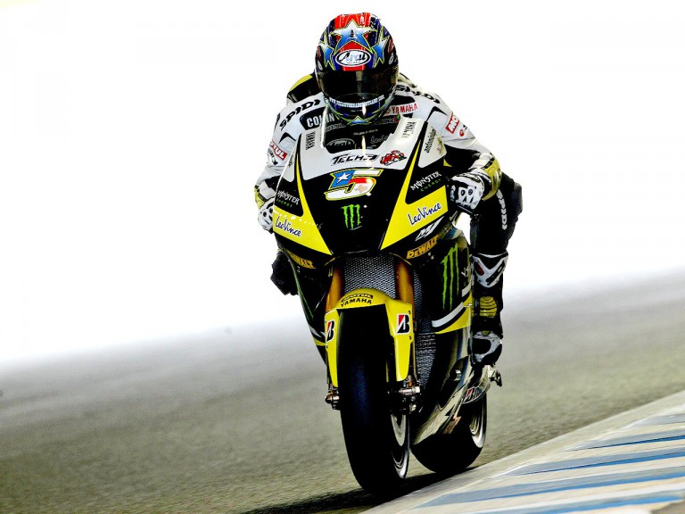 Colin Edwards in action at Motegi