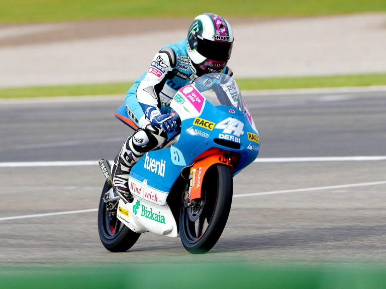 Pol Espargaró in action in Valencia
