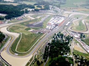 Aerial view of Mugello circuit