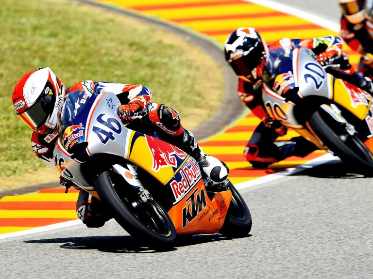 Red Bull Rookies Cup action in Mugello