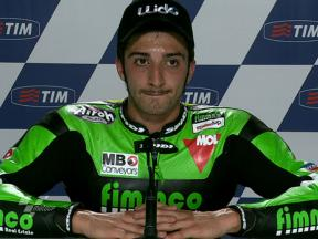 Mugello 2010 Moto2 QP Interview Andrea Iannone