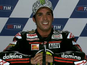 Mugello 2010 Moto2 QP Interview Toni Elias