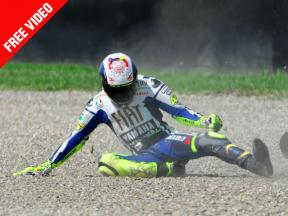 FREE EXCLUSIVE VIDEO Rossi crash in Mugello FP2