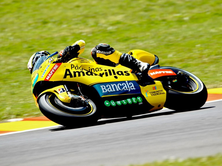 Héctor Barberá in action in Mugello