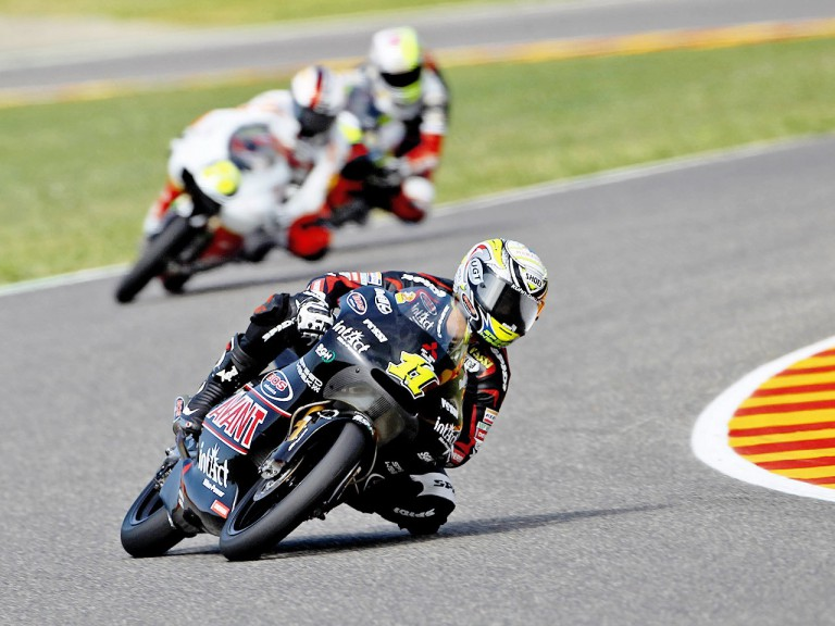 Sandro Cortese in action during the QP in Mugello