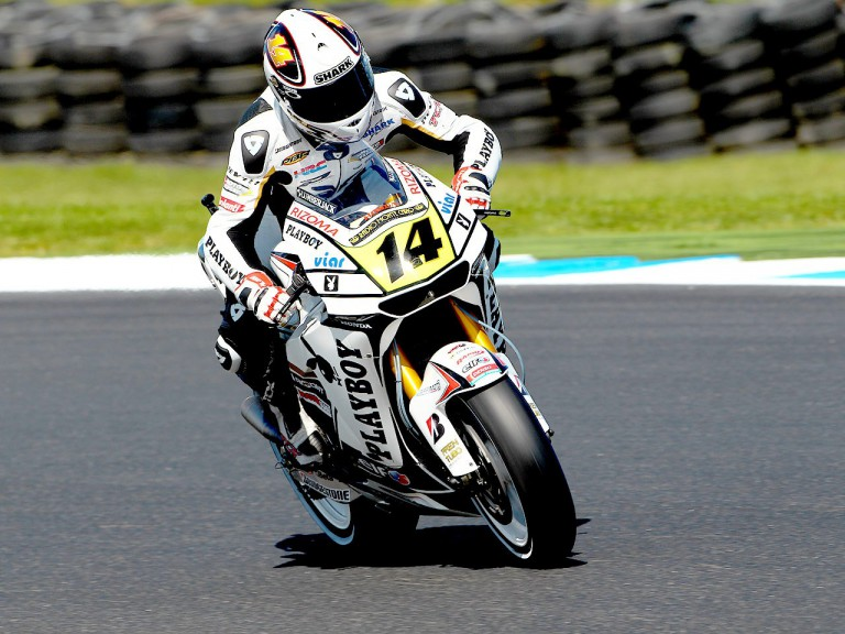 Randy de Puniet in action at Phillip Island