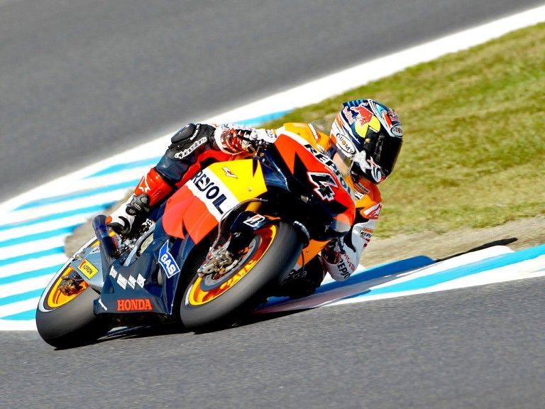 Andrea Dovizioso in action at Motegi