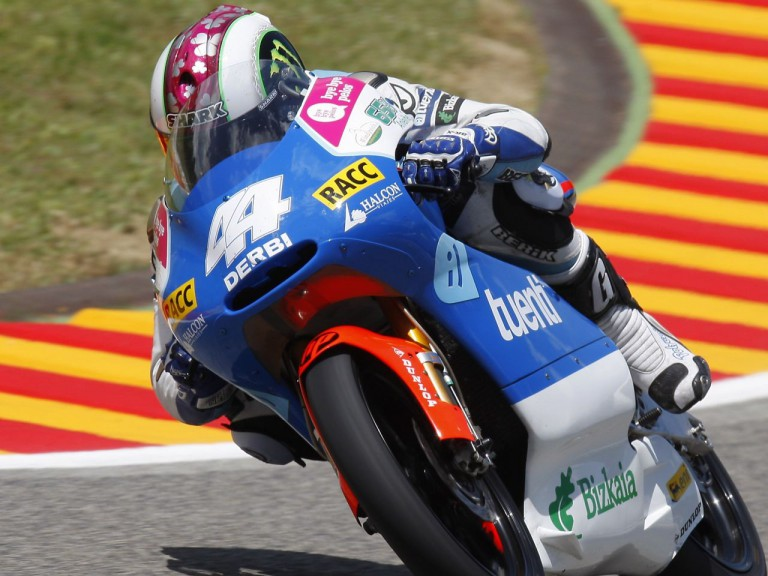 Espargaró in action during FP2 at Mugello