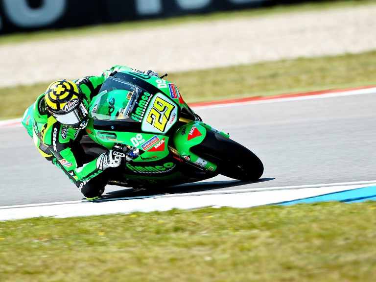 Andrea Iannone in action at Assen