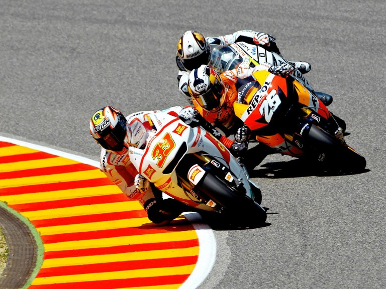 Melandri, Pedrosa and De Puniet in action in Mugello