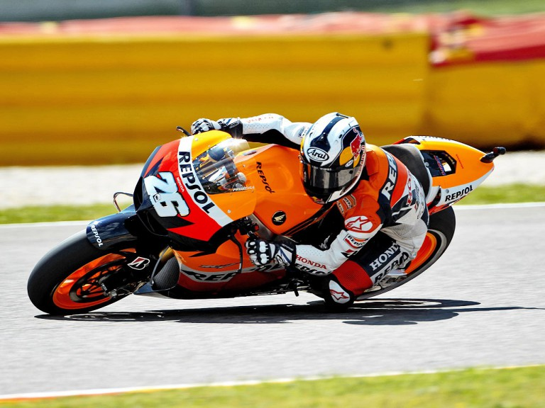 Dani Pedrosa in action during the QP in Mugello