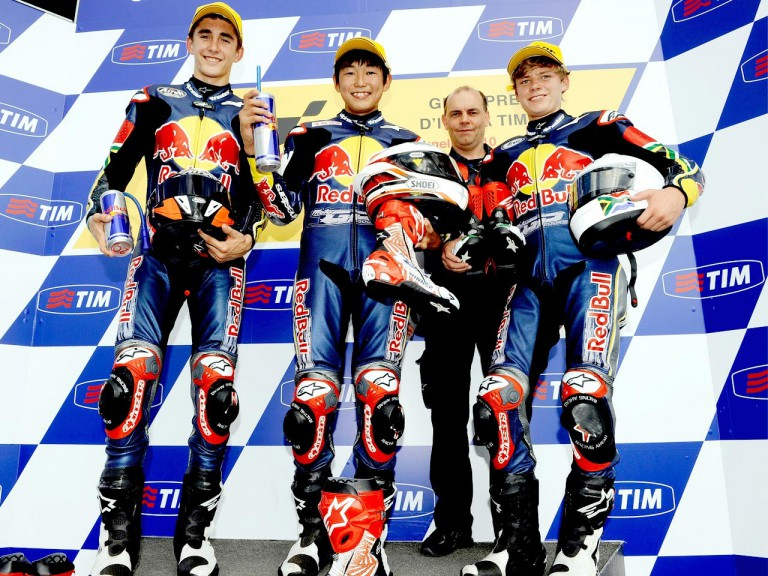 Red Bull Rookies Cup podium in Mugello