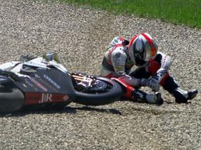 Mugello 2010 Moto2 Race Action Mattia Pasini