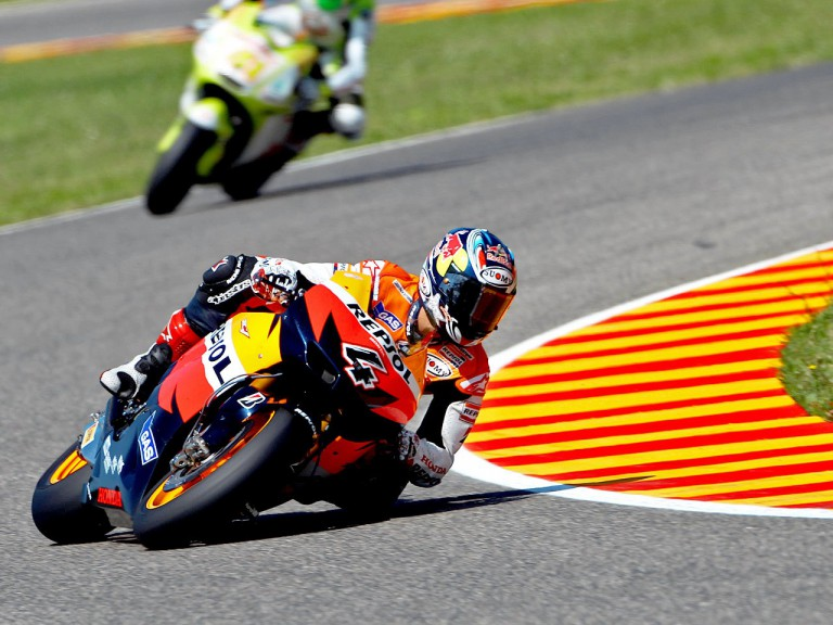 Andrea Dovizioso in action in Mugello