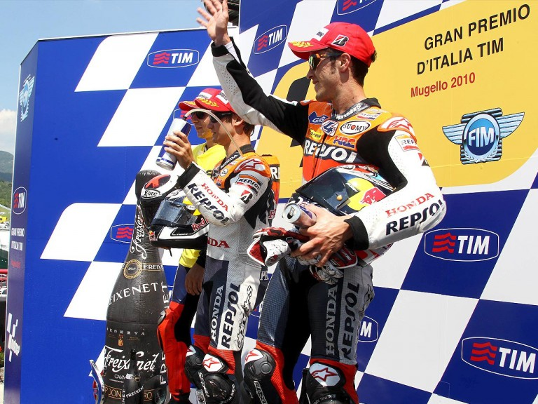 Dovizioso, Pedrosa and Lorenzo on the podium at the Gran Premio D¨Italia Tim