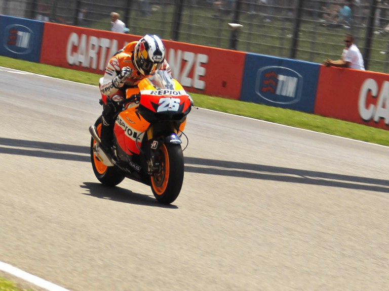 Dani Pedrosa finishing the MotoGP race in Mugello